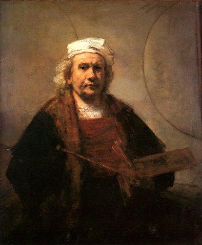 レンブラント・「自画像(1661年) プリキャンバス複製画・ 【ポスター仕上げ】(8号相当サイズ)