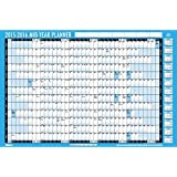 Tallon 880x580mm Academic/Student Year Planner - Blue/White