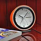 【Amazon.co.jp限定】 Amazon.co.jp ロゴ版 アラーム クロック 目覚まし時計 オレンジ OC227E