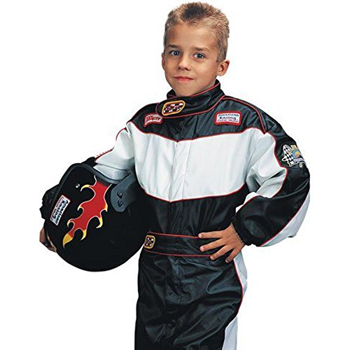 Medium Child's Deluxe Race Car Driver Costume (For Ages 7-8) (Racing Driver Costume)