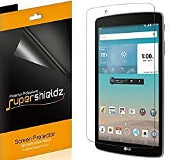 [3-Pack] SUPERSHIELDZ- Anti-Bubble High Definition Clear Screen Protector For LG G Pad F 8.0 + Lifetime Replacements Warranty - Retail Packaging