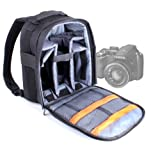 Black Durable Nylon Carry Case For Fujifilm FinePix S2980, S2950, S1700, FujiFilm FinePix S3200/S3280 & FinePix X-Pro1 Camera, With Adjustable Shoulder Straps & Rain Cover