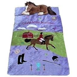 English Dressage Hunter Horse Rider Kids Slumber Sleeping Bag