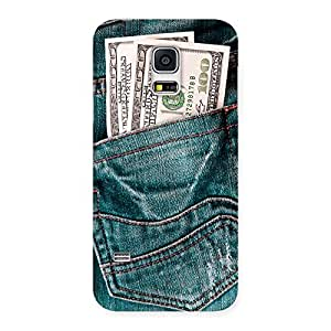 Delighted Dollars Jeans Back Case Cover for Galaxy S5 Mini