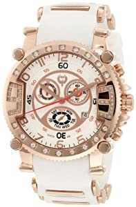 Brillier Men's 02.3.3.4.13.12 Grand Master Tourer Signature Gold-Tone White Rubber Watch from Brillier
