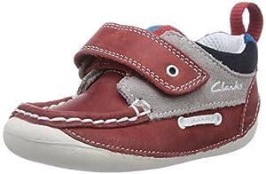 Clarks Cruiser Deck - pantuflas de aprendizaje de cuero bebé marca Clarks - BebeHogar.com