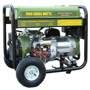 Sportsman GEN7000 7,000 Watt 13 HP OVH 4-Stroke Gas Powered Portable Generator With Electric Start