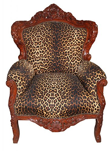Baroque Armchair 'King' Leopard / Gold