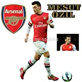 new - Premier League Mesut Ozil Soccer Wall Sticker Sports Football Wall Decal for Kids Boys Room Decoration Arsenal Poster Wallpaper