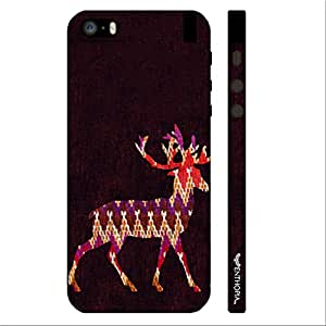 Apple IPhone 5/5S Wintery Deer designer mobile hard shell case by Enthopia