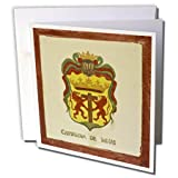 Kike Calvo Cartagena Colombia - Cartagenas Shield - 12 Greeting Cards with envelopes (gc_9981_2)