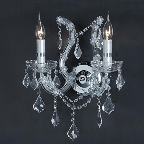 Lumi LAMP 5LL - CR19 lampadario da parete senza lampadina Ø 40 x 35 cm 2 x E14 Max, 40 W