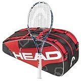 Head 2013 Youtek Graphene Instinct MP STRUNG Tennis Racquet plus 6 Racquet Bag by HEAD