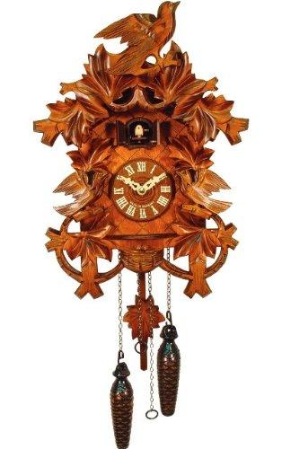 Carved Yellow Cuckoo Bird Cuckoo Clock