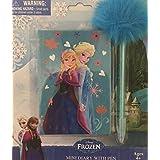 Disney Frozen Elsa And Anna Mini Blue Diary With Pen