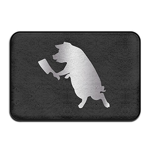 PIG WITH BUTCHER KNIFE Stic Platinum Style Doormats