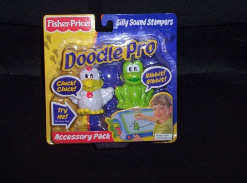 Fisher Price Doodle Pro Silly Sound Stampers Accessory Pack (Chicken and Frog)