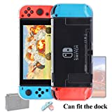 [Updated]Clear Case for Nintendo Switch (Can Fit in the Dock),FYOUNG Protective Cover Case for Nintendo Switch console and Nintendo Switch Joy-Con Controller
