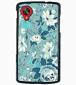 ColourCraft Lovely Flower Pattern Design Back Case Cover for LG GOOGLE NEXUS 5