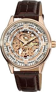 Akribos XXIV Men's AK410RG 'Saturnos' Skeleton Automatic Gold Round Watch