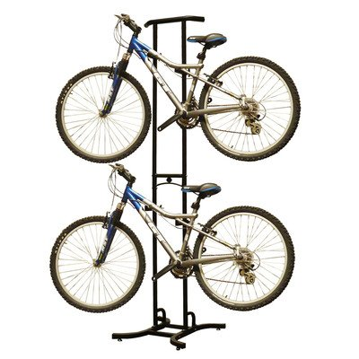 Stoneman Sports DBR-820 Sparehand Freestanding Adjustable 2-Bike Storage Rack for All Frames Types, Black Finish (Sports Storage Rack compare prices)