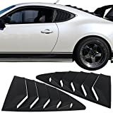 Rear Louver Fits 2013-2018 Scion Fr-s Subaru Brz | Ikon Style Black Abs Quarter Window Panel By Ikon Motorsports | 2014 2015 2016 2017