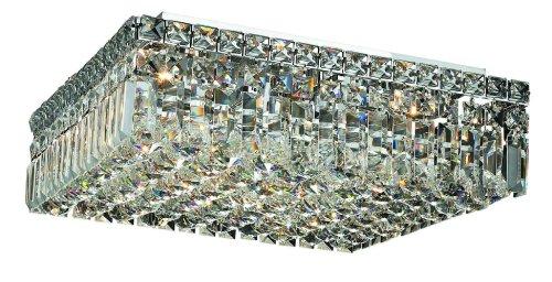 Elegant Lighting 2032F16C/Rc Maxim 5.5-Inch High 6-Light Flush Mount, Chrome Finish With Crystal (Clear) Royal Cut Rc Crystal front-833014