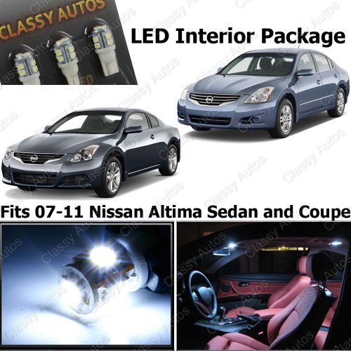 Classy Autos Nissan Altima White Interior LED Package (7 Pieces) (Auto Parts For Nissan Altima compare prices)