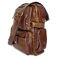 INFON 7042 Cowboy Vintage Leather Men Travel bag Backpack Bookbag,M42 from INFONONLINE