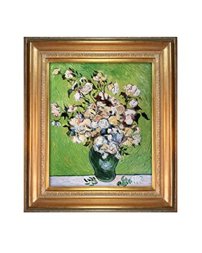 """Vincent Van Gogh """"Vase With Roses"""" Hand-Painted Reproduction"""