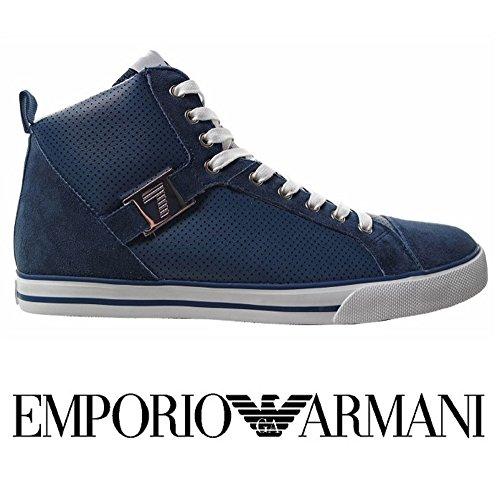 EA7 Emporio Armani New Franky lea scarpe blu uomo alte-41 1/3