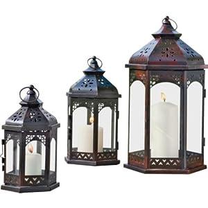 Outdoor lantern set