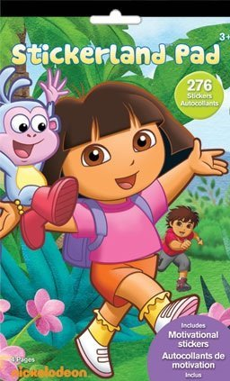 Dora the Explorer Stickerland 4 Pages 276 Stickers