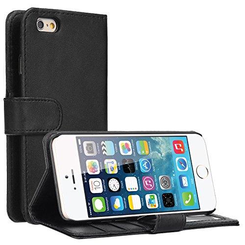 """EnGive Housse Etui Cuir PU Coque pour iPhone 6 (4.7"""", noir)"""