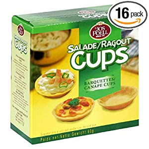 jos poell canape cups 2 1 ounce units pack of 16