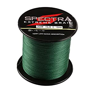 Spectra 100%Pe Braided Fishing Line 6-300Lb Test Moss Green 100m-2000m by Sanli