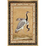 A Pair of Saras Birds, by Ustad Mansur (Print On Demand)