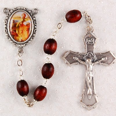 St. Luke Rosary, Boxed, Patron Saint Catholic