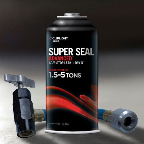 Cliplight Super Seal Advanced 944KIT - Permanently Seals & Prevents Leaks in A/C & Refrigeration Systems - 1.5-5 TONS (Air Conditioner Leak Repair compare prices)