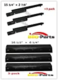 bbq-parts Coleman 5100 Gas Grill Replacement KIT Burners, Heat Plates 3 Pk