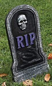Foam Tombstone with Purple RIP (21 Inches)