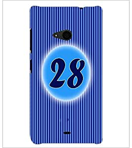 PrintDhaba Numerology Number 28 D-2586 Back Case Cover for MICROSOFT LUMIA 535 (Multi-Coloured)