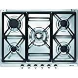 Smeg SE70SGH-5 70cm Classic Gas hob with Cast Iron Pan Supports