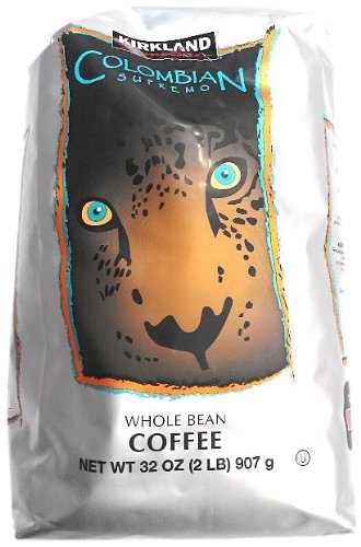 Signature 100% Whole Bean Coffee Suppremo, Columbian, 2-Pound