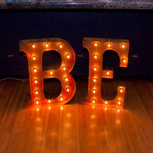 Vintage Marquee Letter F with Lights 24 Inches Tall 2