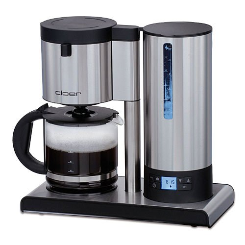 Cloer 5609NA Coffee Machine with LED Display, Matte Stainless Steel