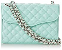 Rebecca Minkoff Mini Quilted Affair Crossbody Bag,Minty,One Size