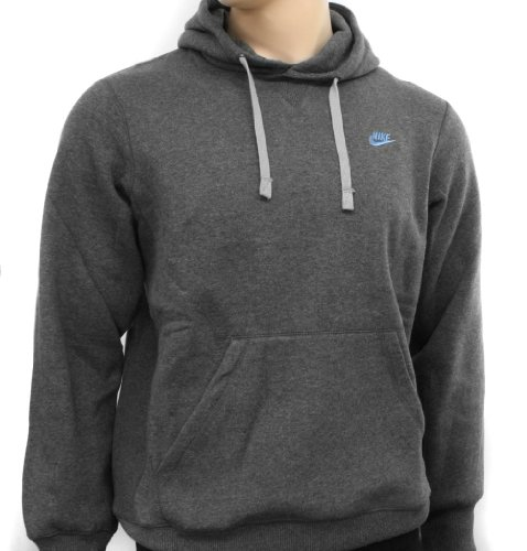 Nike Mens Charcoal Hooded Sweatshirt Hoody Size M 072