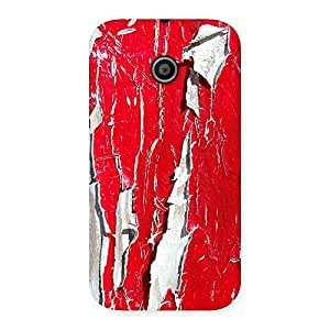 Special Red Ripped Paint Print Back Case Cover for Moto E