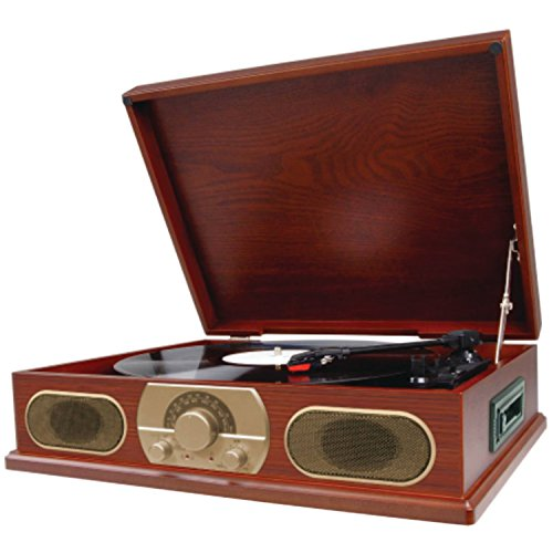 Spectra Studebaker Wooden Turntable with AM/FM Radio & Cassette Player SB6052 (Turntable Am Fm compare prices)